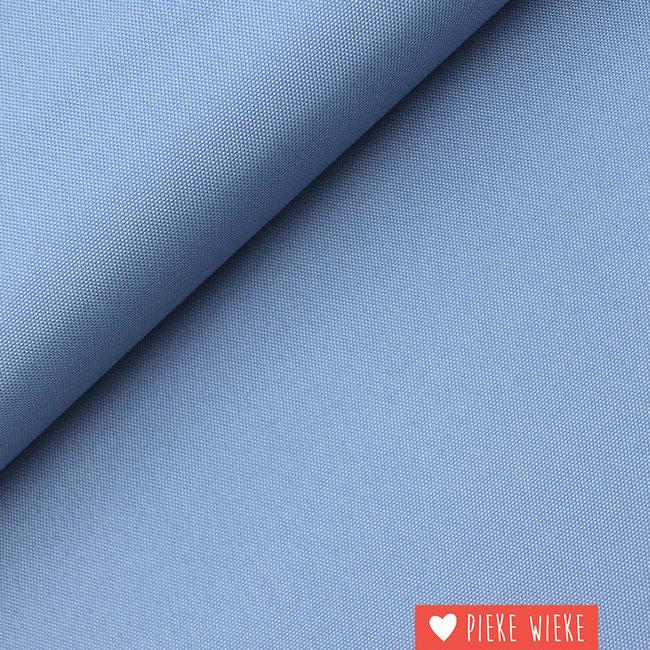 Fijne polyester canvas Blauw