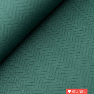 Mind the Maker Biologische Chevron Quilt Diep groen