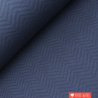 Mind the Maker Organic Chevron Quilt Dark blue