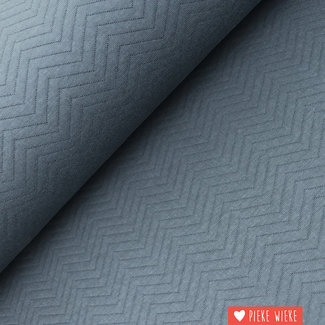 Mind the Maker Organic Chevron Quilt Asphalt grey