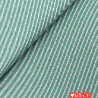 Canvas oblique woven jacquard Old mint
