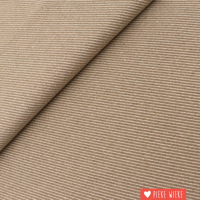 Canvas diagonally woven Sand