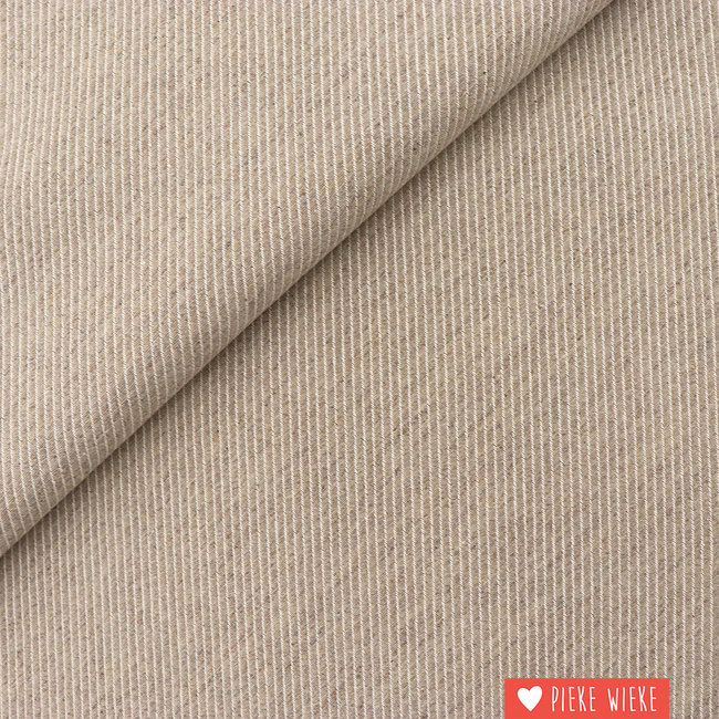 Canvas diagonally woven Light beige