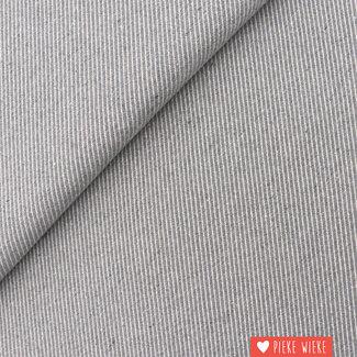Canvas diagonally woven Grey