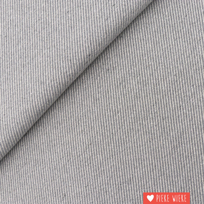 Canvas diagonally woven Grey