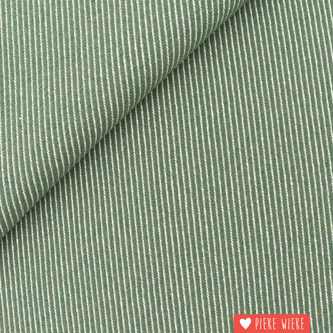 Canvas diagonally woven Green