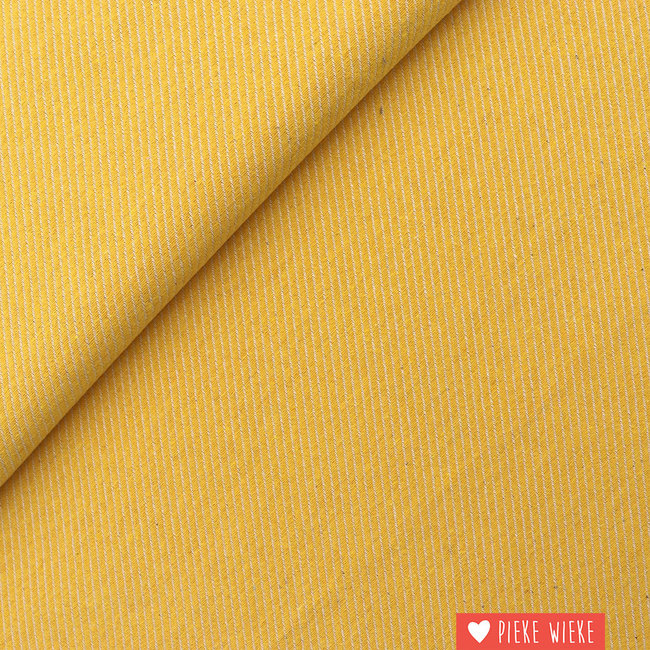 Canvas diagonally woven Yellow
