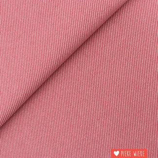 Canvas diagonally woven Pink