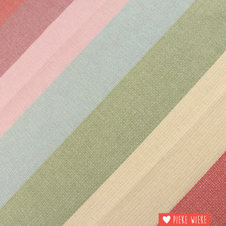 Canvas wide woven stripes pink