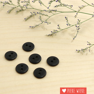 Button Basic mat 12mm Black