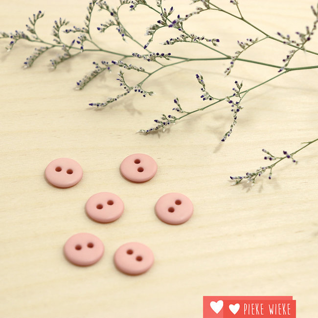 Button Basic mat 12mm Powder pink