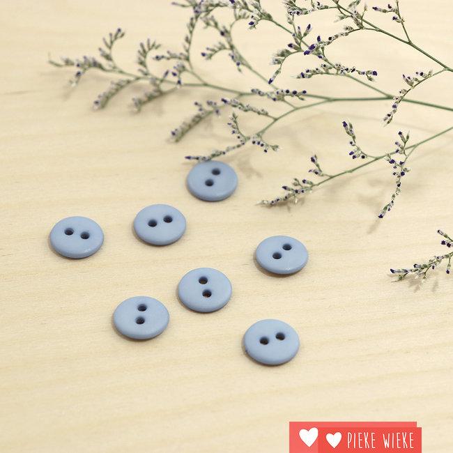 Button Basic mat 12mm Powder blue