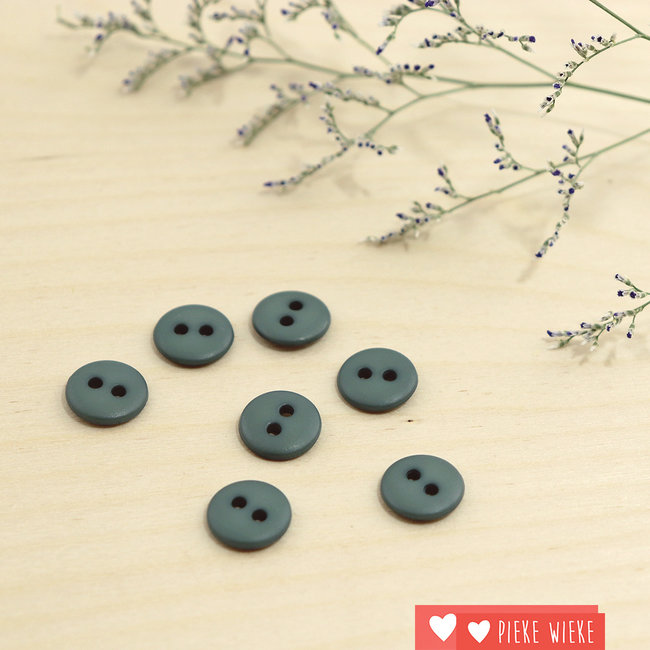 Button Basic mat 12mm Dark old green