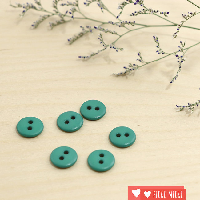 Button Basic mat 12mm Smaragd green