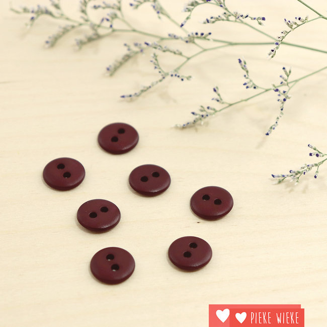 Button Basic mat 12mm Burgundy