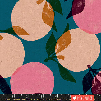 Ruby Star Society Canvas Cotton Linen Season Teal