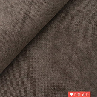 Ribfluweel bruin