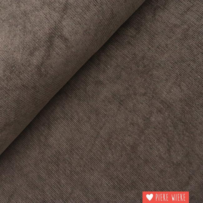 Rib velvet brown