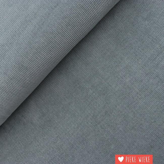 Ribbed velvet Mid gray