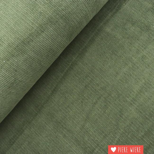 Ribfluweel Kaki