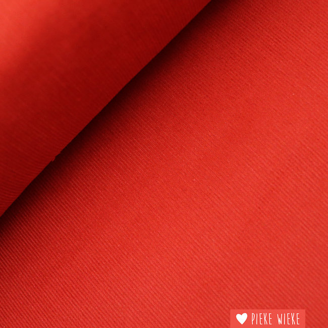 Rib velvet fine brick red