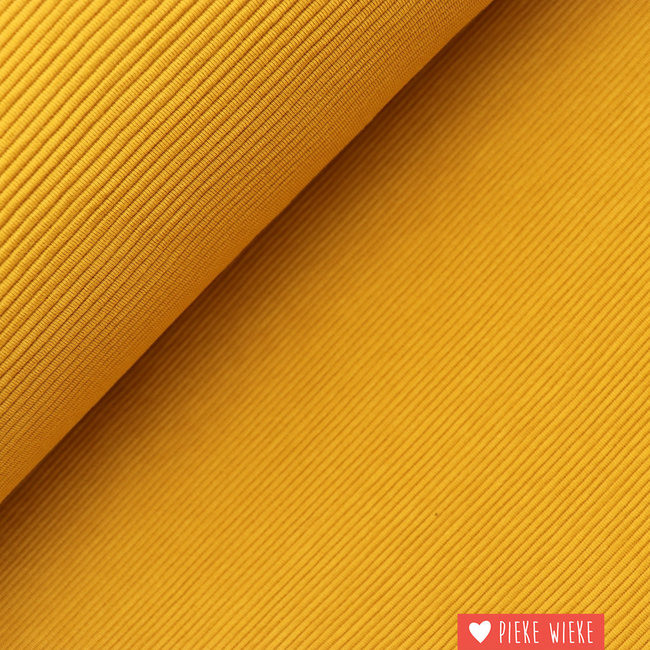 Ribbed jersey dark yellow