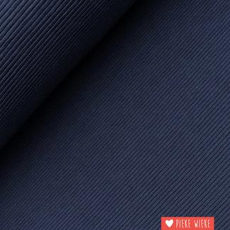 Geribbelde tricot donkerblauw