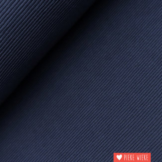 Ribbed jersey dark blue