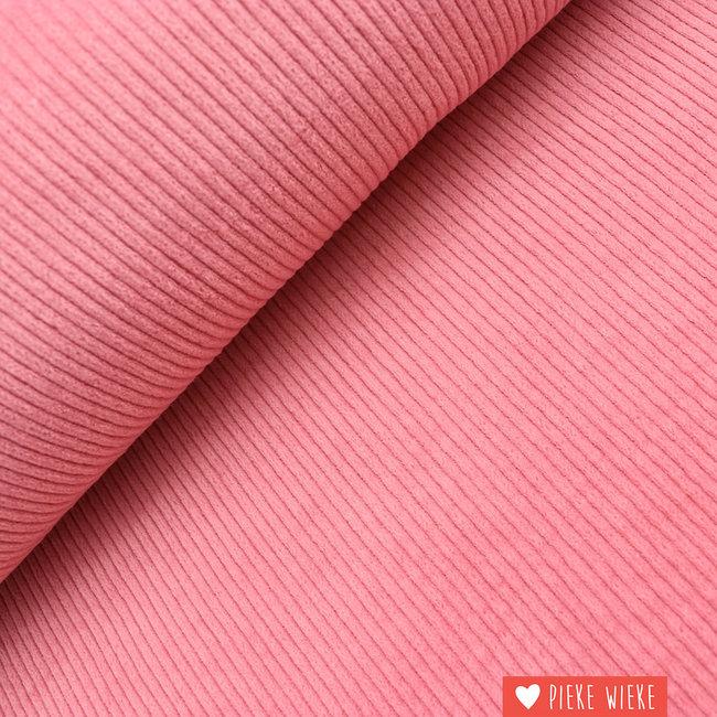 Wide ribbed velvet washed pink