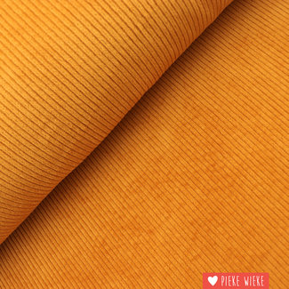 Broad ribbed velvet washed ochre