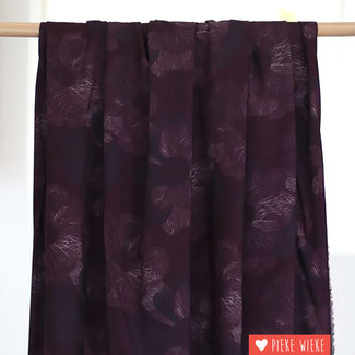 Mind the Maker Viscose stretch Art flow Burgundy