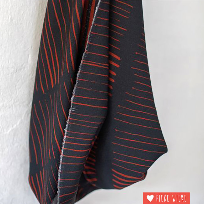 Mind the Maker Viscose Twill Sticks Night Red