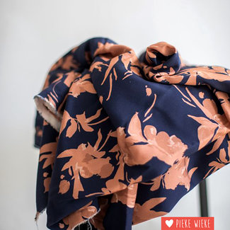 Mind the Maker Viscose twill Fall flow Navy
