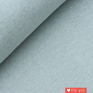 Interlock brushed lijntjes mint