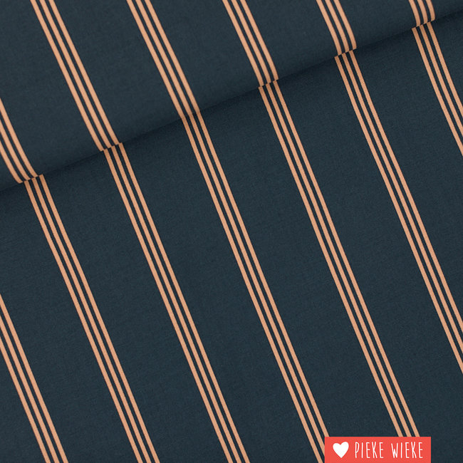 See You at Six Viscose Rayon Three lines Peach