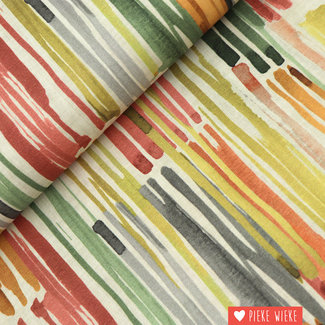 Poppy Canvas Stripes