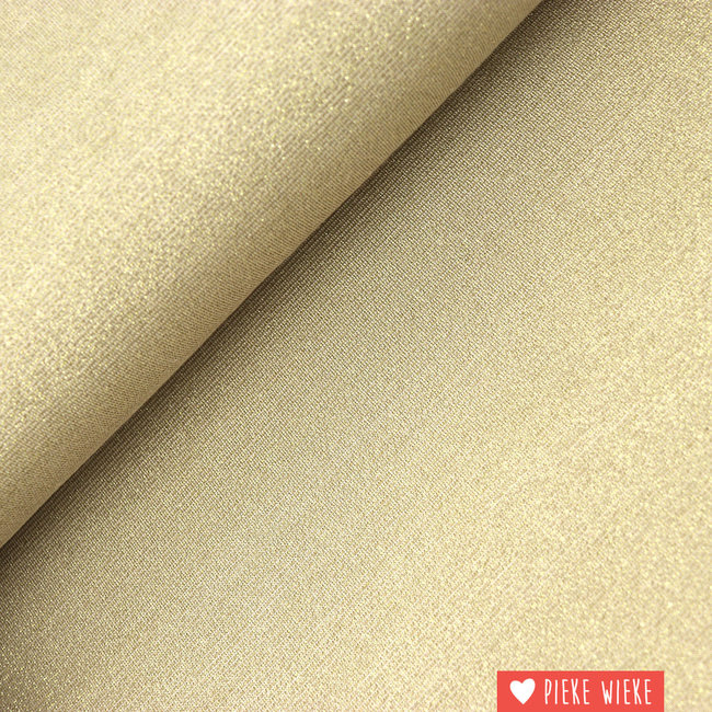 Viscose tricot sparkling Gold