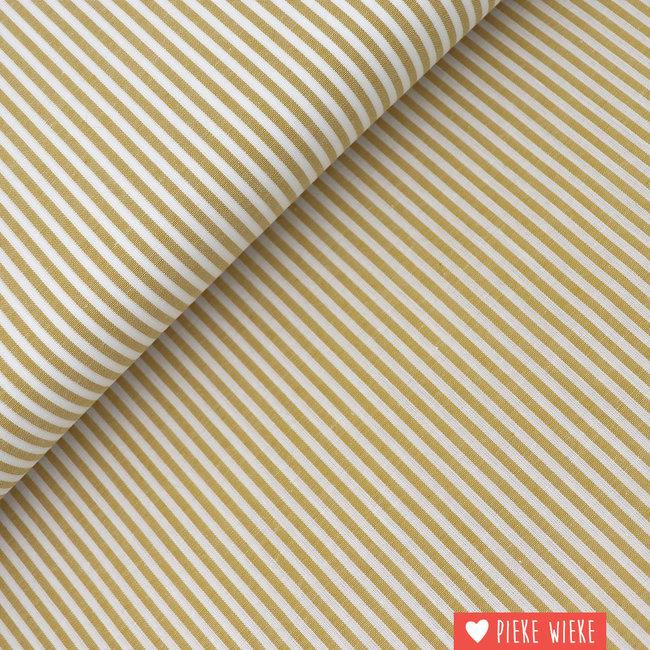 Cotton chambray Striped ochre