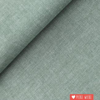 Cotton chambray Dark green