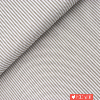 Cotton chambray Sand striped