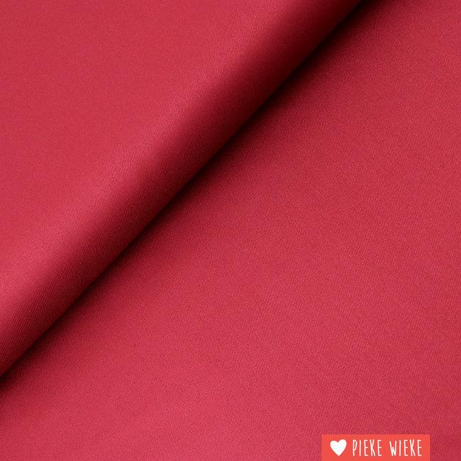 Bamboo twill Deep red