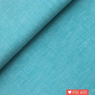 Cotton chambray Turquoise