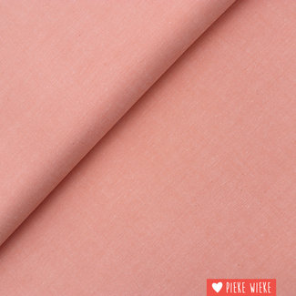 Poppy Cotton chambray Coral
