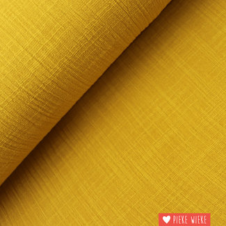 Cotton washed linen ochre