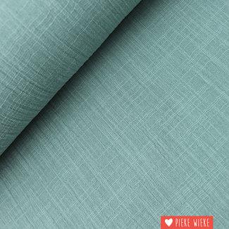Katoen washed linnen look oud mint