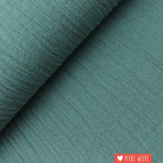 Katoen washed linnen look pine