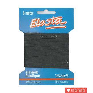 Elastiek 6m / 5mm zwart