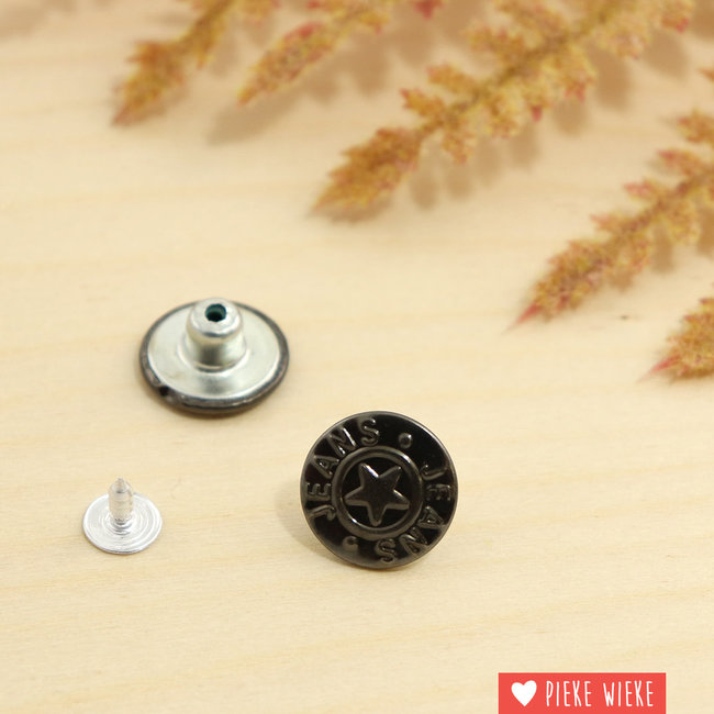 Jeansknoop 18mm Zwart nikkel