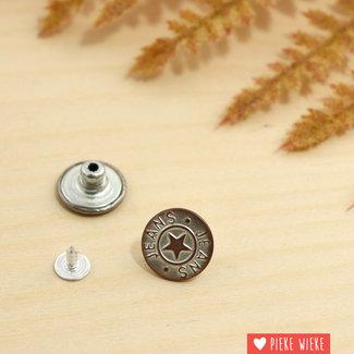 Jeansknoop 18mm White copper