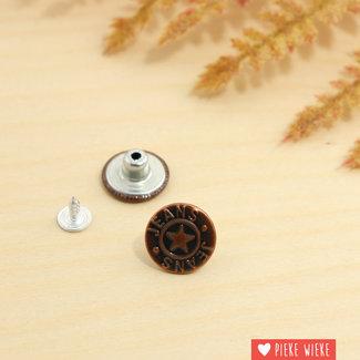 Jeans button 18mm Black copper